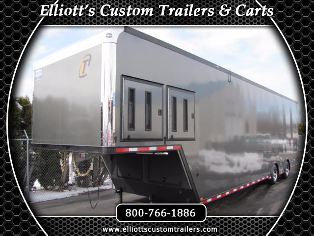 2019 Intech Trailers Gooseneck Custom 40ft Charcoal Grey Gooseneck