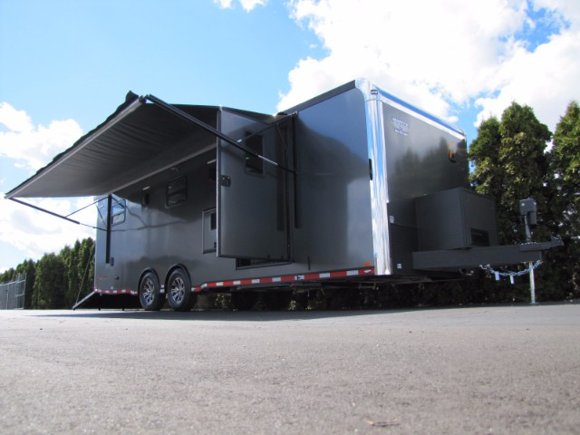 2019 Intech Trailers Custom 28' Living Quarters Camper Trailer w/ HappiJac Bed