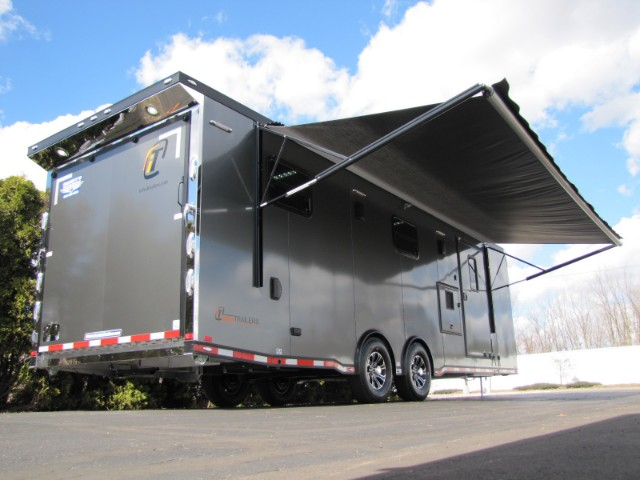 2018 Intech Trailers Custom 28' Living Quarters Camper Trailer w/ HappiJac Bed