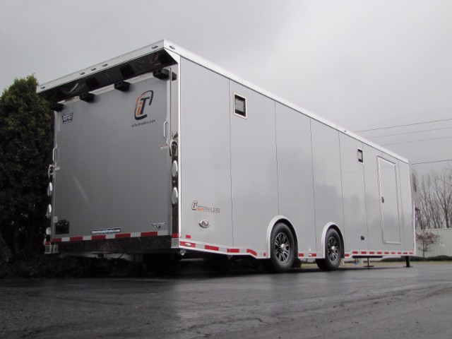 2018 Intech Trailers Gooseneck 38' All Aluminum Race Trailer