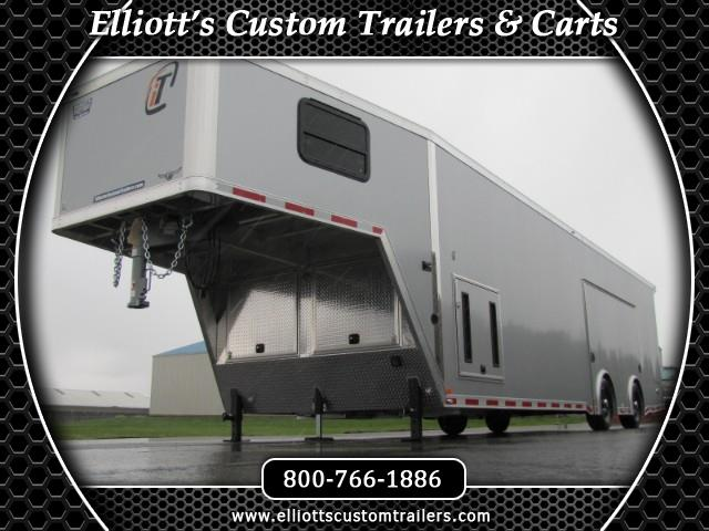 2019 Intech Trailers Gooseneck 38' All Aluminum Race Trailer