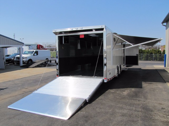 2019 Intech Trailers Icon 28' Aluminum Race Trailer - LOADED!