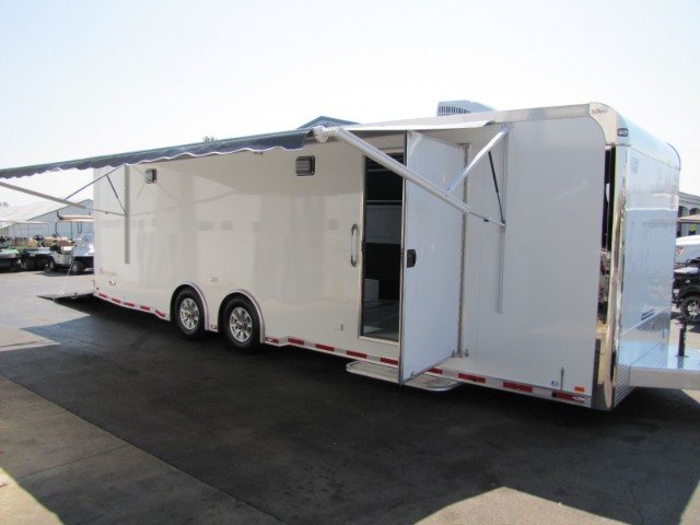 2018 Intech Trailers Icon 28' Aluminum Race Trailer - LOADED!