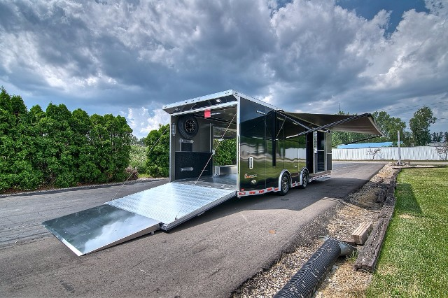 2018 Intech Trailers Custom 28' Aluminum Car Hauler - Wide Body w/ Escape Door