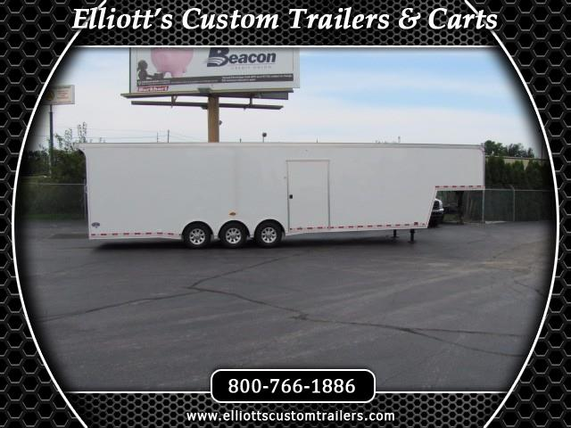 2019 United Trailers Gooseneck 40ft With 12in Extra Height Interior 7ft 6in