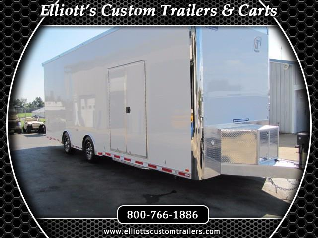 2019 Intech Trailers Icon 28' Sprint Car Trailer w/ 9' Interior Height