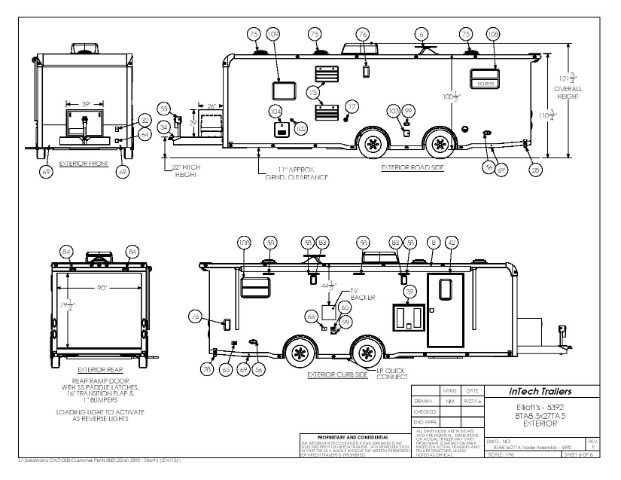 new 2018 intech trailers icon 26ft all aluminum trailer with bathroom pkg for sale in warsaw in