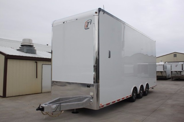 2019 Intech Trailers Stacker 28' All Aluminum Race-Ready Stacker w/ 4 Post Lift