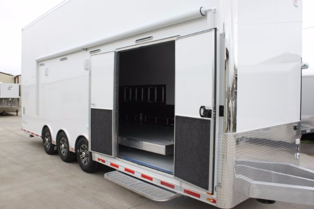 2018 Intech Trailers Stacker 28' All Aluminum Race-Ready Stacker w/ 4 Post Lift