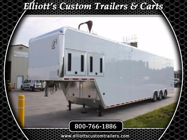 2019 Intech Trailers Gooseneck 44' TRIPLE 7000# AXLES CUSTOM ALL ALUMINUM RACE RE
