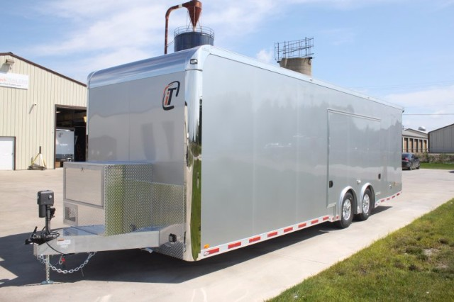 2018 Intech Trailers Icon 28' Aluminum Car Hauler - Generator & Escape Door!