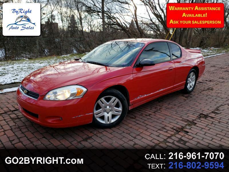 2006 Chevrolet Monte Carlo LTZ for sale VIN: 2G1WN151569324510