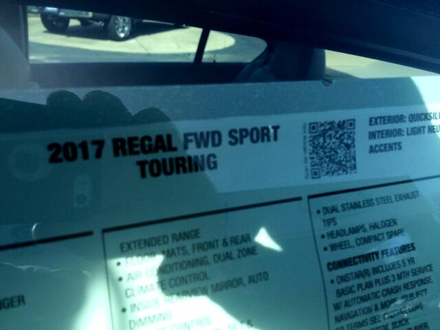 2017 Buick Regal FWD SPORT TOURING