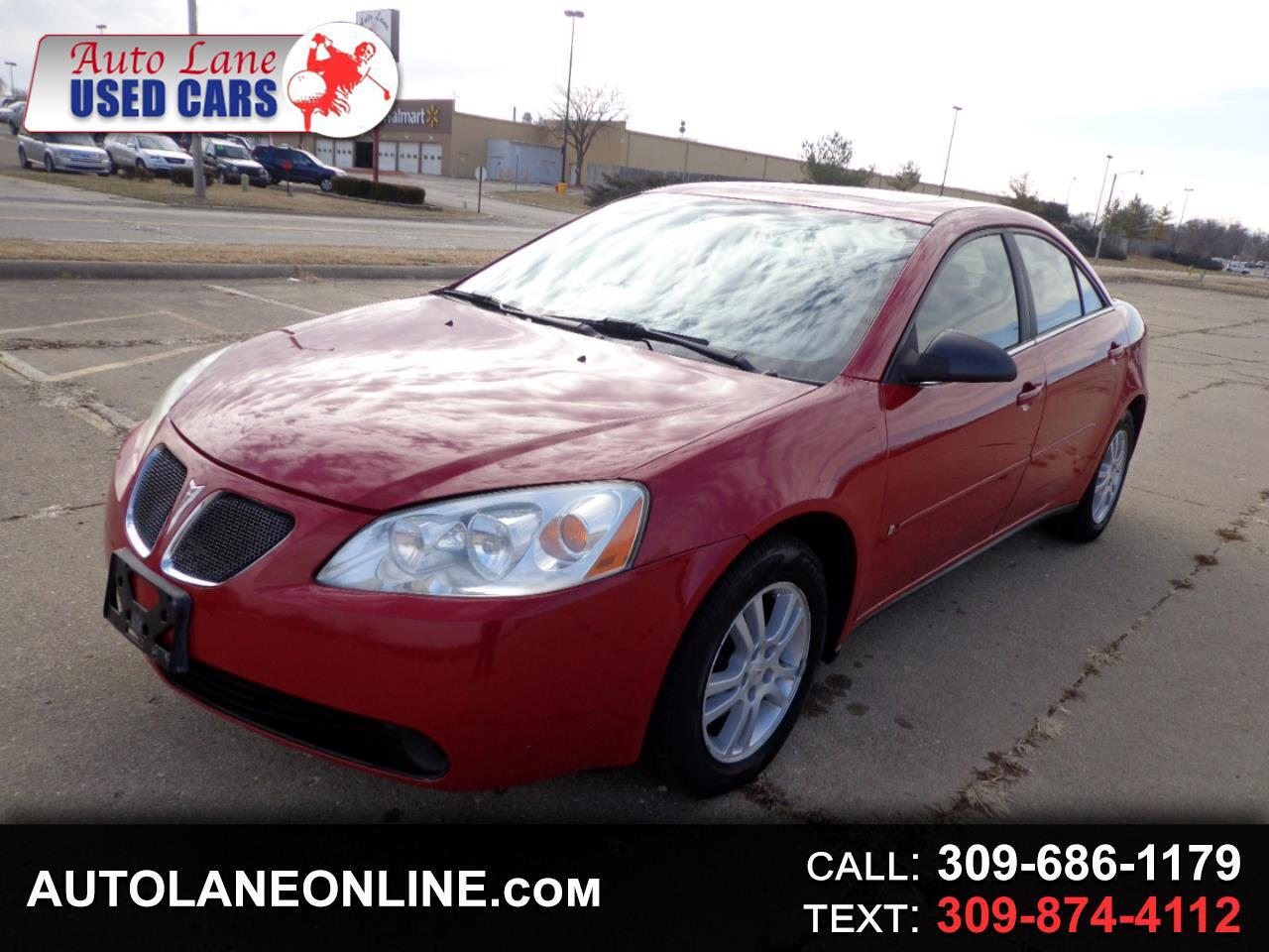 Auto Lane Peoria Il >> Buy Here Pay Here 2006 Pontiac G6 4dr Sdn 6 Cyl For Sale In