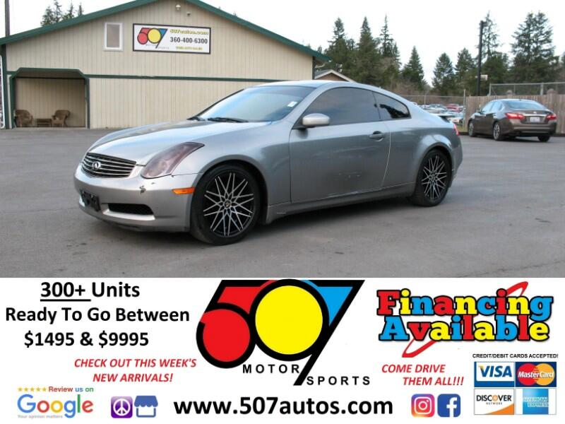 2004 Infiniti G35 Coupe 2dr Cpe Auto w/Leather