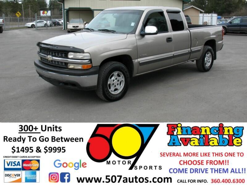 """2001 Chevrolet Silverado 1500 Ext Cab 143.5"""" WB 4WD LS"""