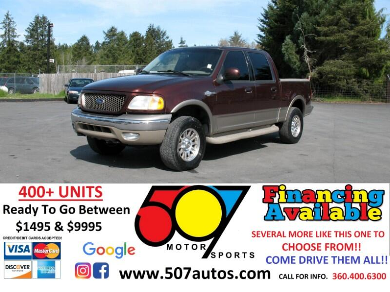 """Ford F-150 SuperCrew Crew Cab 139"""" King Ranch 4WD 2001"""