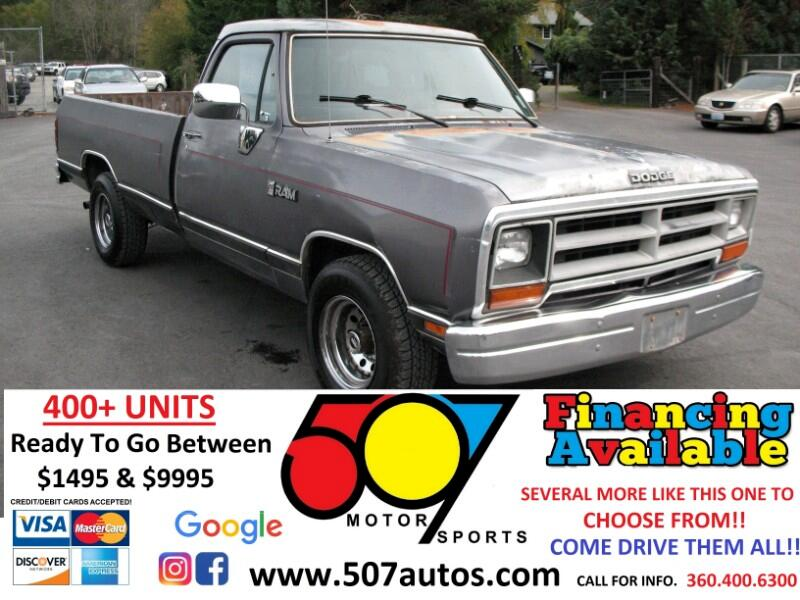 "1989 Dodge D100 & W100 D100 Sweptline 115"" WB"