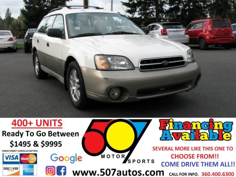 Subaru Legacy Wagon 5dr Outback Auto w/RB Equip 2001