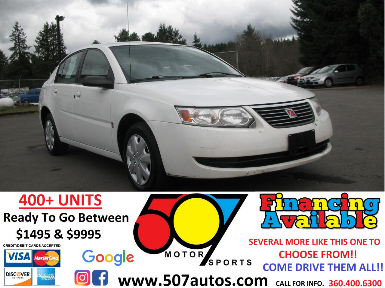 Saturn ION 4dr Sdn Auto ION 2 2007