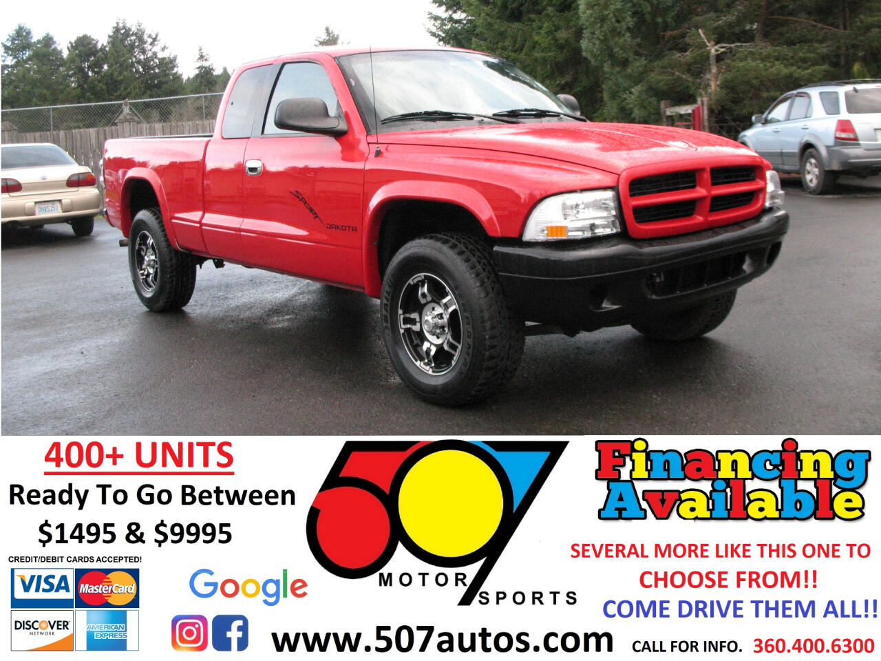 "Dodge Dakota Club Cab 131"" WB 4WD Sport 2001"