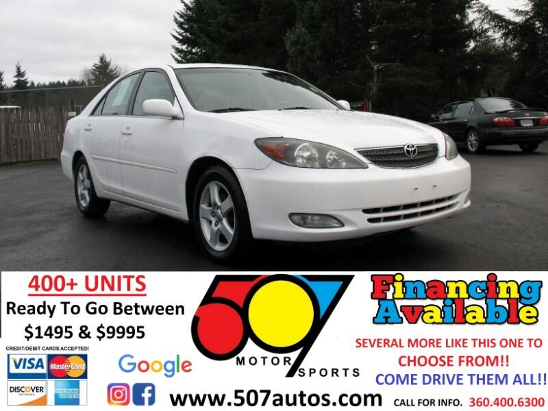 used 2003 toyota camry 4dr sdn xle v6 auto natl for sale in roy wa 98580 507 motorsports used 2003 toyota camry 4dr sdn xle v6