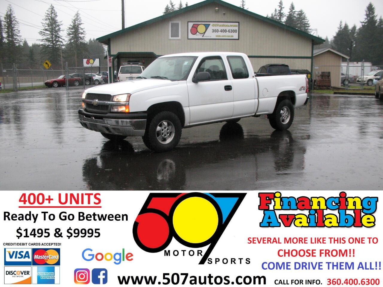 "Chevrolet Silverado 1500 Ext Cab 143.5"" WB 4WD Work Truck 2004"