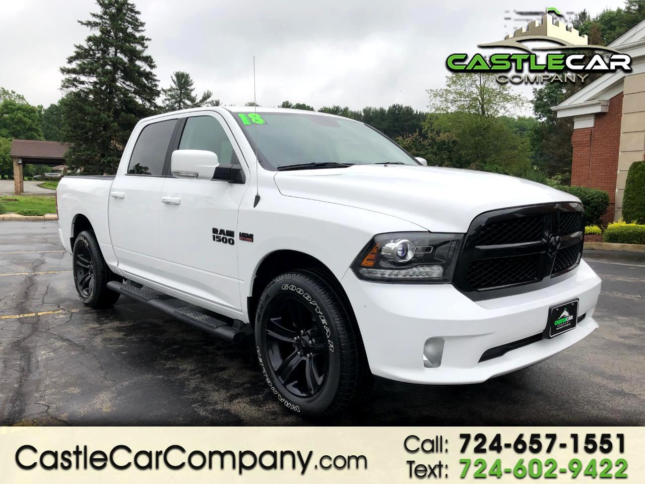 2018 RAM 1500 SPORT CREW CAB 4WD NIGHT EDITION