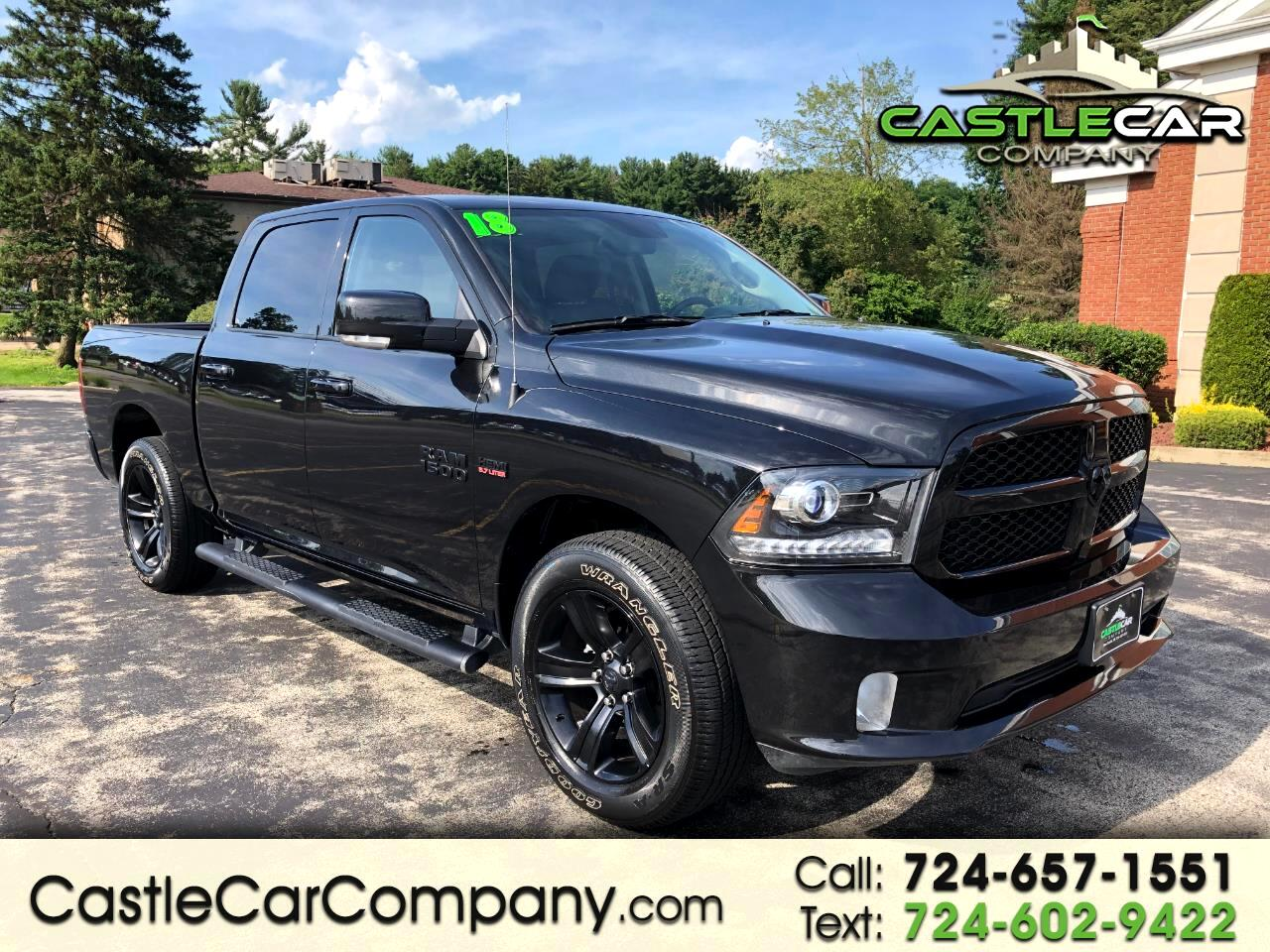 2018 RAM 1500 SPORT CREW CAB NIGHT EDITION 4WD