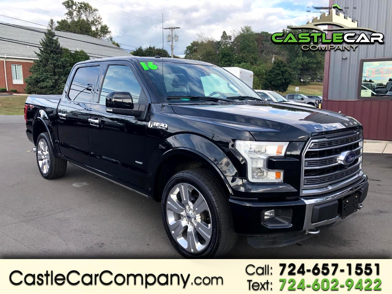 """2016 Ford F-150 4WD SuperCrew 145"""" Limited"""