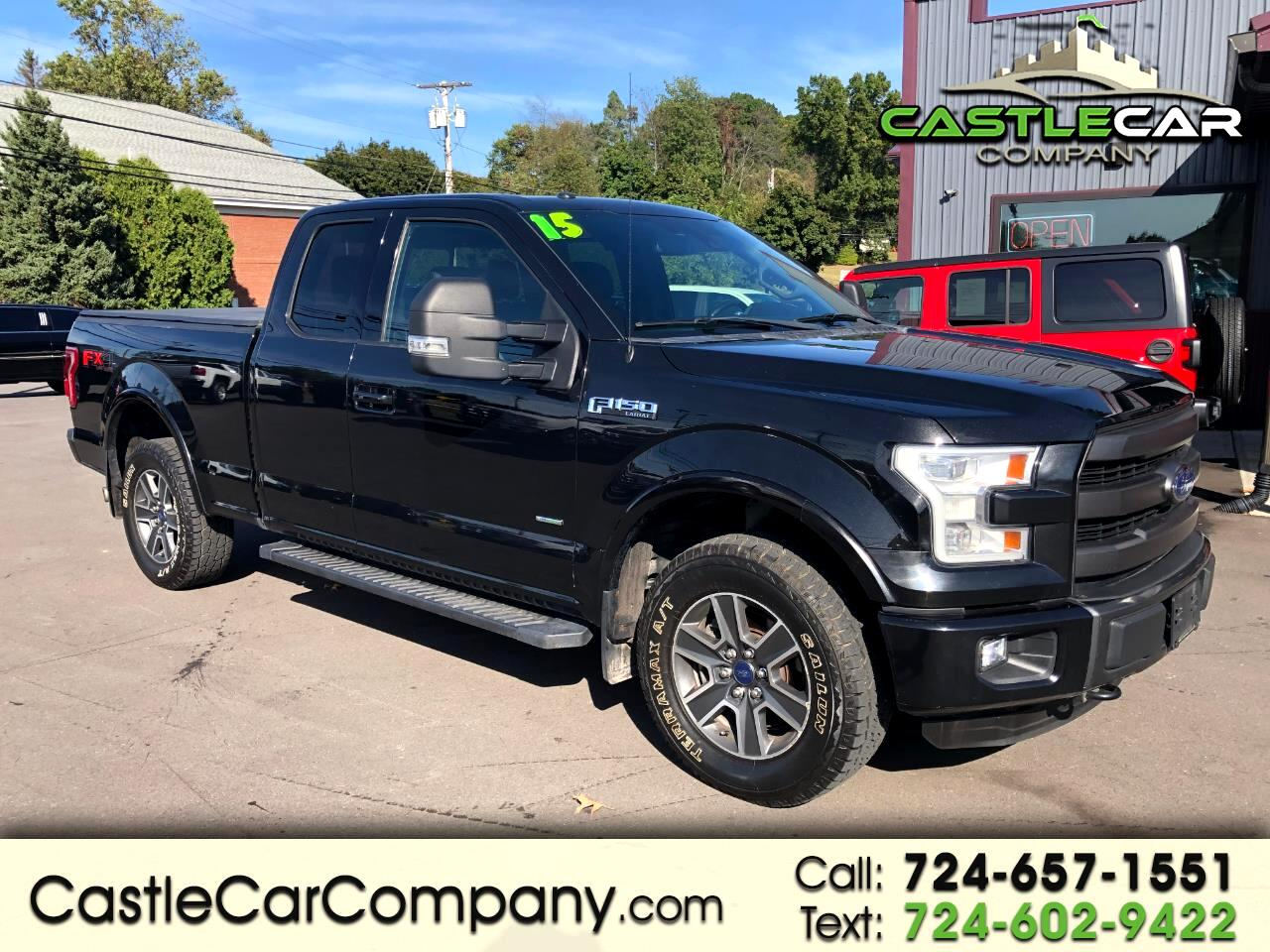 "2015 Ford F-150 4WD SuperCab 163"" Lariat w/HD Payload Pkg"