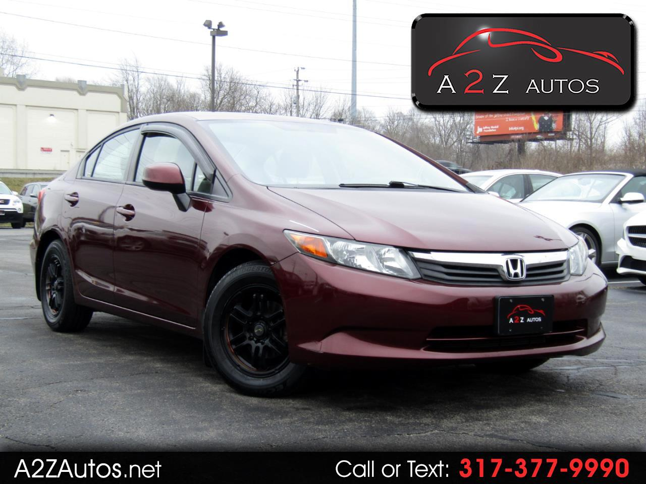 Honda Civic LX Sedan 5-Speed AT 2012