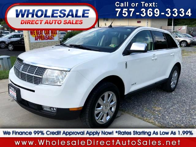 used 2008 lincoln mkx awd for sale in newport news va 23608 wholesale direct auto sales. Black Bedroom Furniture Sets. Home Design Ideas