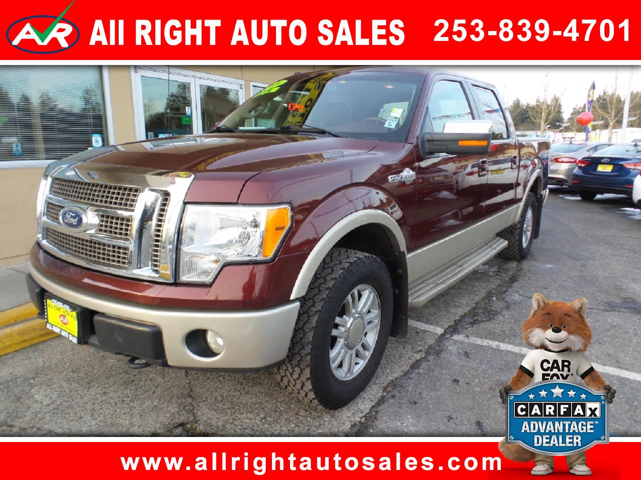"2009 Ford F-150 4WD SuperCrew 157"" King Ranch"