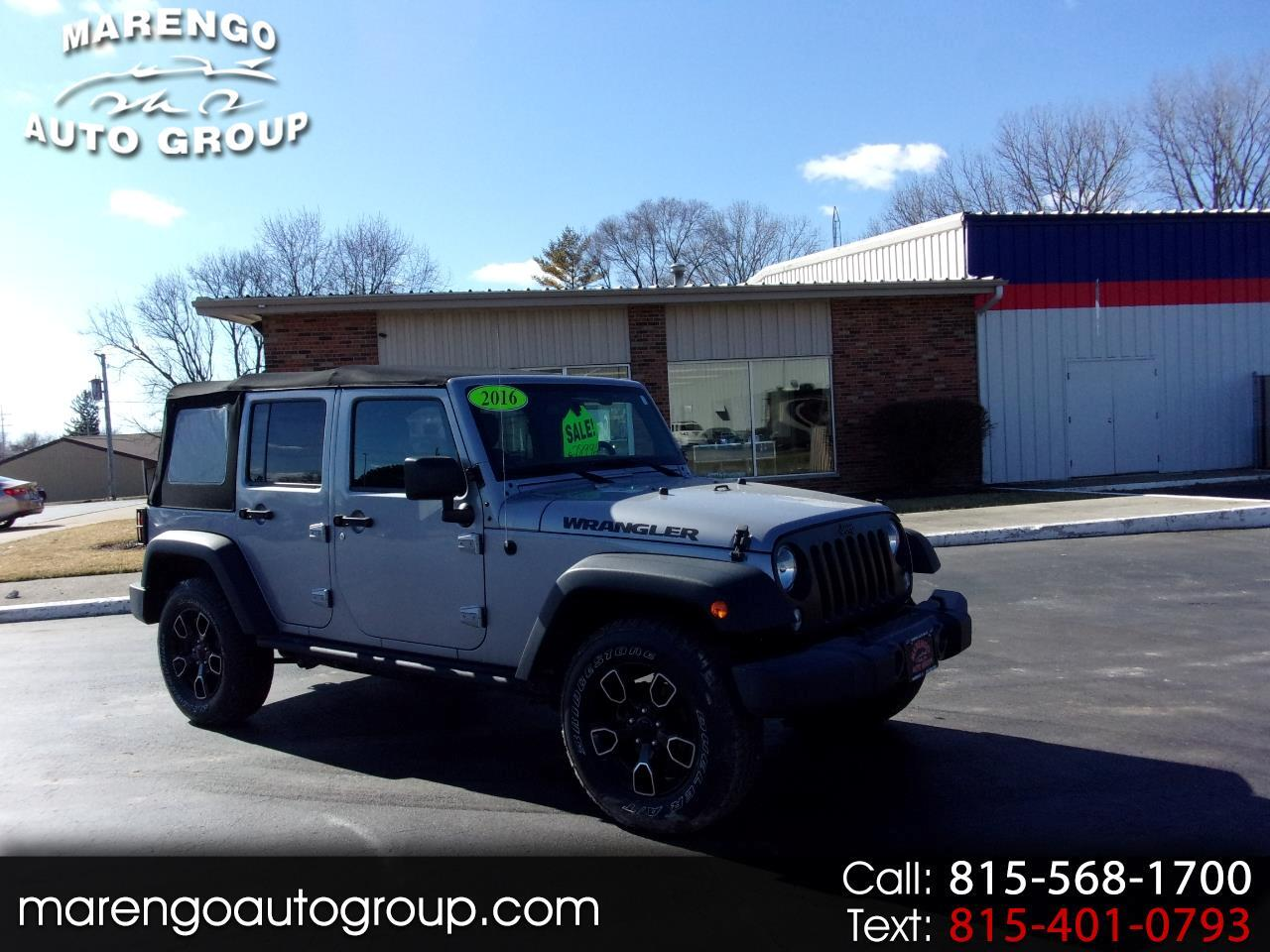 2016 Jeep Wrangler Unlimited 4WD 4dr Black Bear *Ltd Avail*