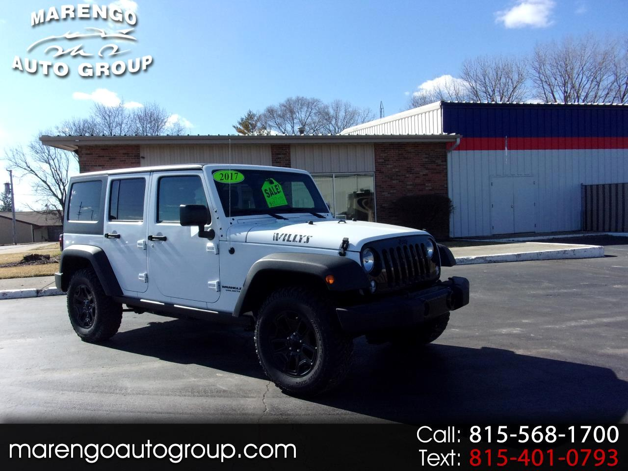 2017 Jeep Wrangler Unlimited Willys Wheeler 4x4
