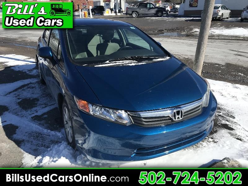 2012 Honda Civic LX Sedan 4-spd AT with Front Side Airbags