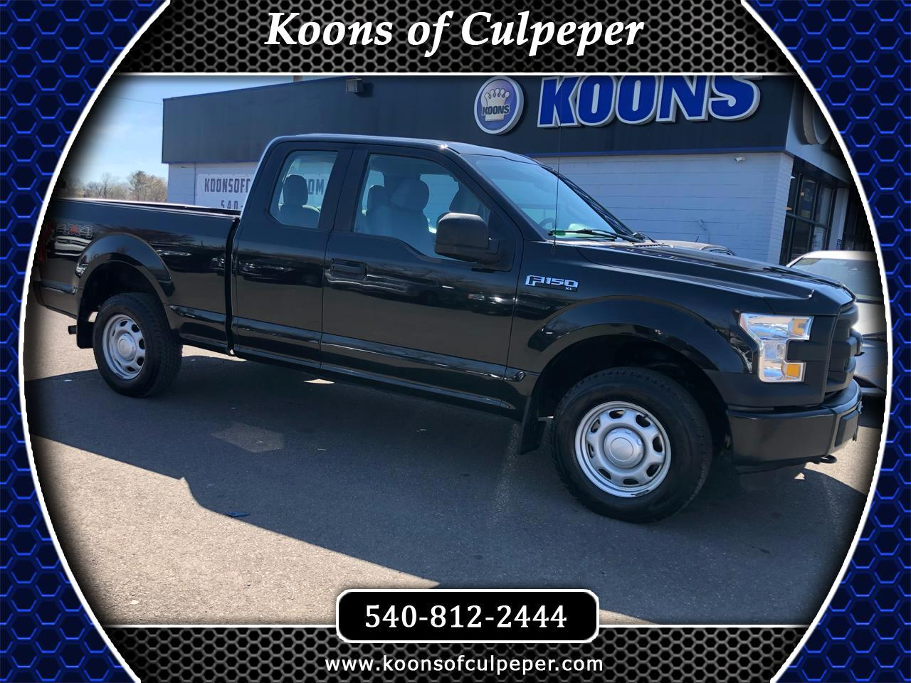 "2015 Ford F-150 4WD SuperCab 145"" XL"