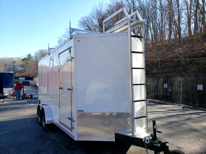 2019 US Cargo 7x16 ULAFT, 12'' Exta Height, 9990 GVW, Ramp Door
