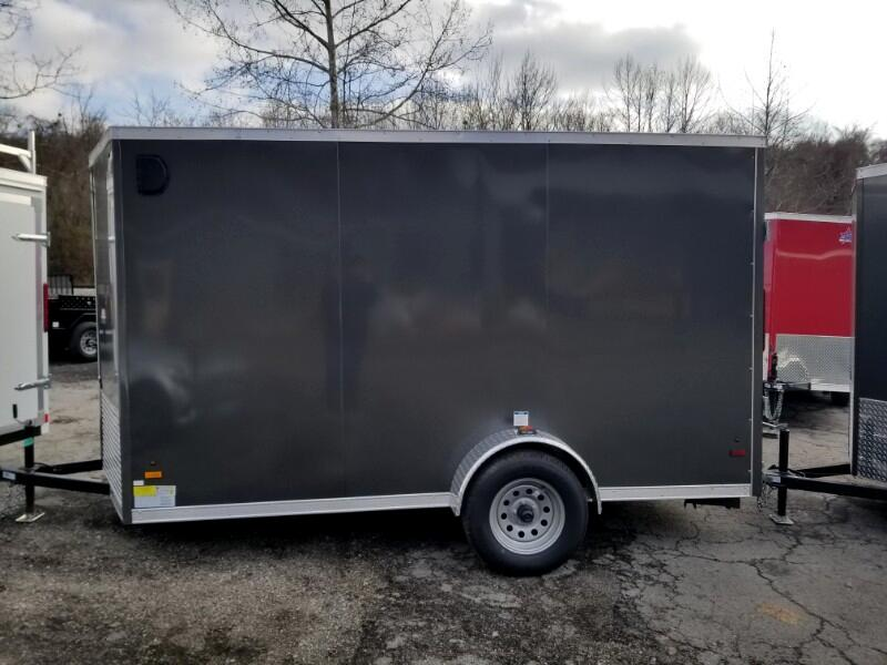 2019 US Cargo 6x12 ULAFT, 6'' Extra Height, Ramp Door, Torsion Axle
