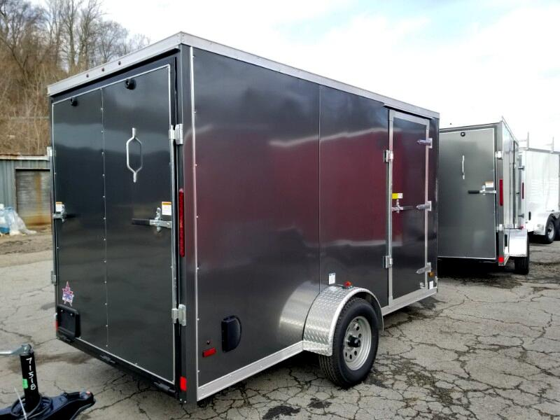 2019 US Cargo 6x12 ULAFT, 6'' Extra Height, Ramp Door