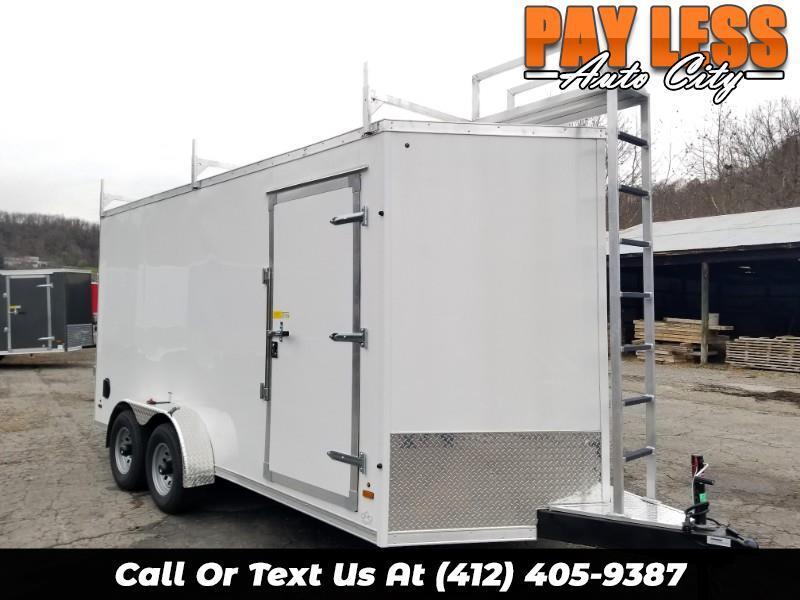 2019 US Cargo 7x16 ULAFT, 12'' Extra Height, 9990 GVW, Ramp Door