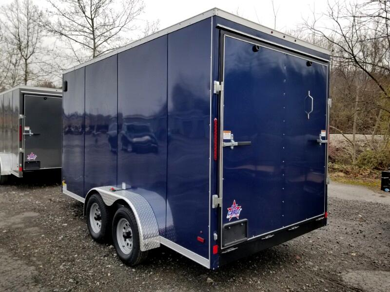 2019 US Cargo 7x14 ULAFT, 12'' Extra Height, Ramp Door