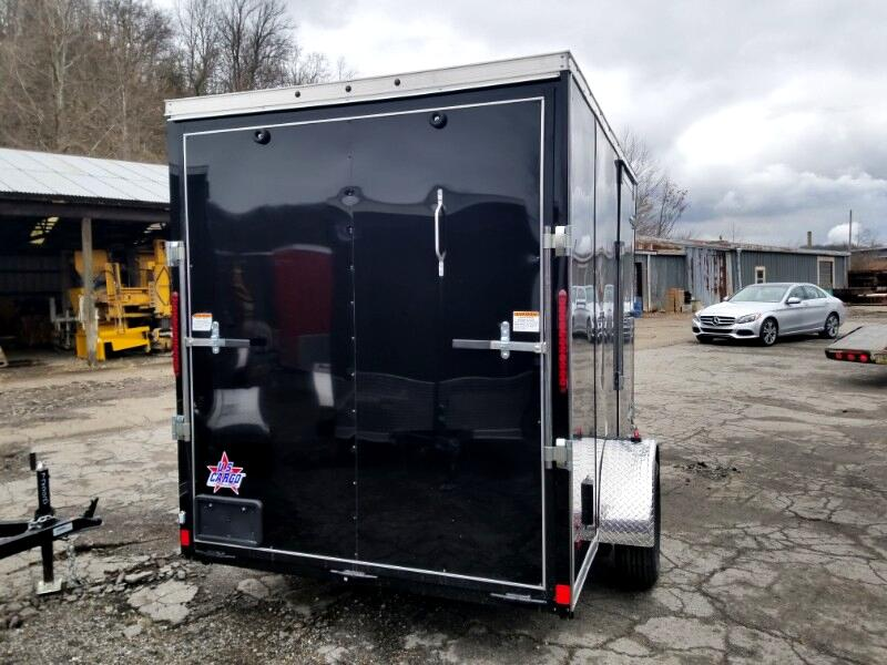 2019 US Cargo 6x10 ULAFT, 6'' Extra Height, Ramp Door