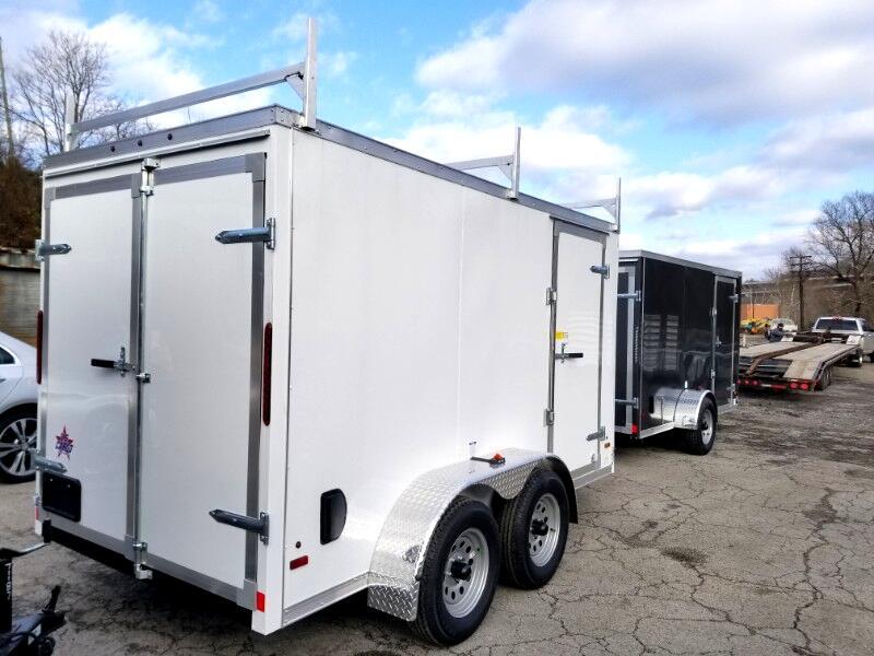 2019 US Cargo 6x12 ULAFT, Tandem Axles, Barn Doors, Ladder Racks