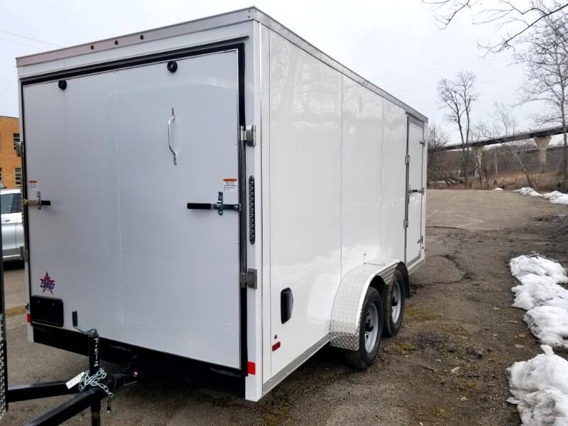 2019 US Cargo 7x16 ULAFT, 6'' Extra Height, Ramp Door