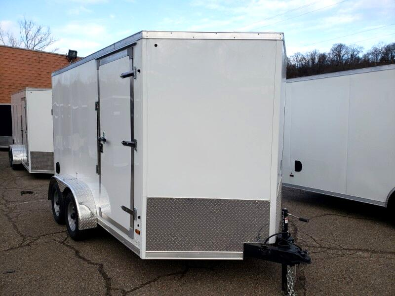 2019 US Cargo 7x12 ULAFT, 6'' Extra Height, Ramp Door