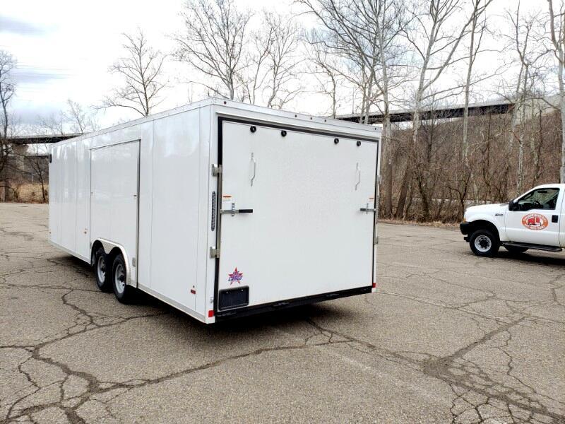 2020 US Cargo 8.5x24 ULAFT, 9990 GVW Car Hauler, Full Flip Up Escape Do