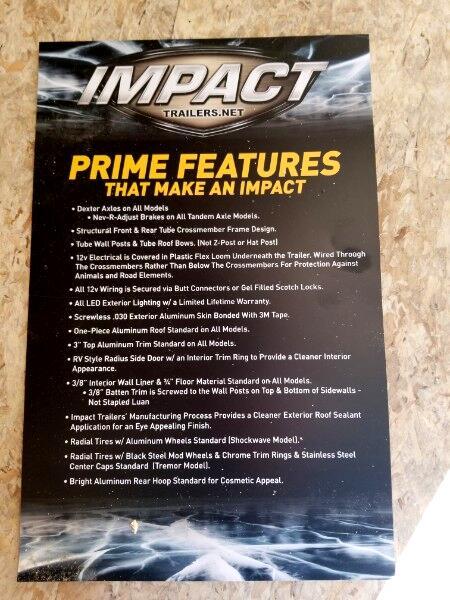 2019 Impact Trailers 8.5x24 Shockwave, 9990 GVW, Car Hauler