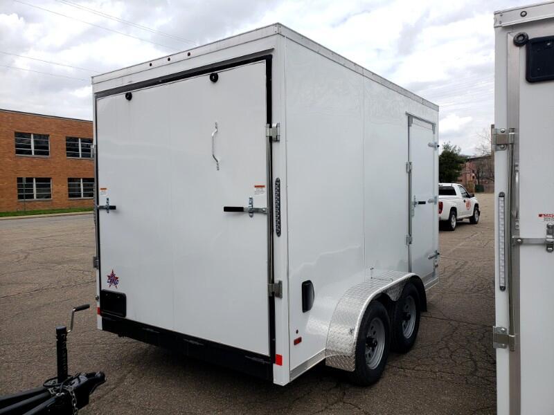 2019 US Cargo 7x12 ULAFT, 12'' Extra Height, Ramp Door